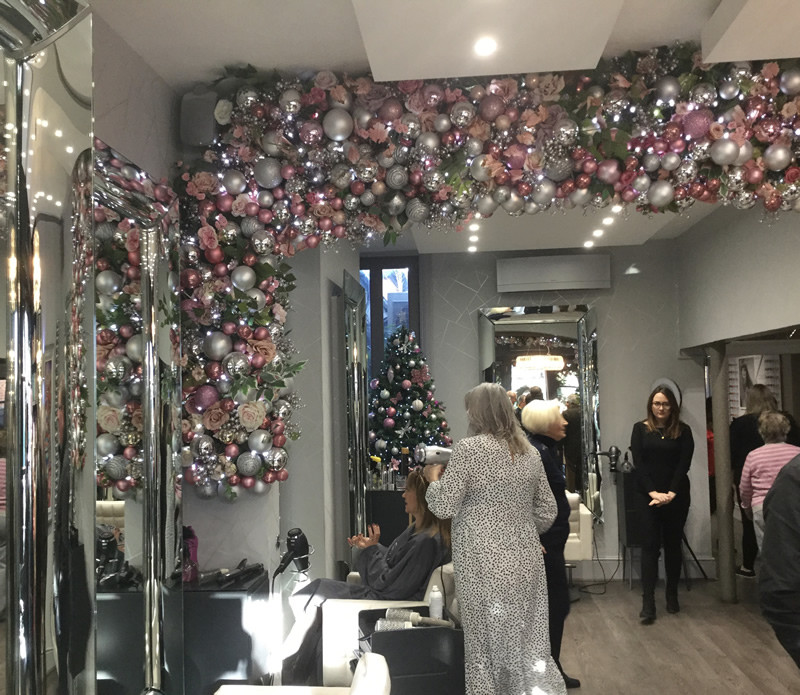 Collections Hair Club Christmas Decorations - Interior