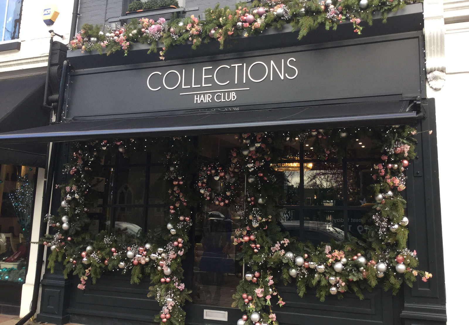 Collections Hair Club - Winners of Weybridge In Bloom Christmas Window Competition