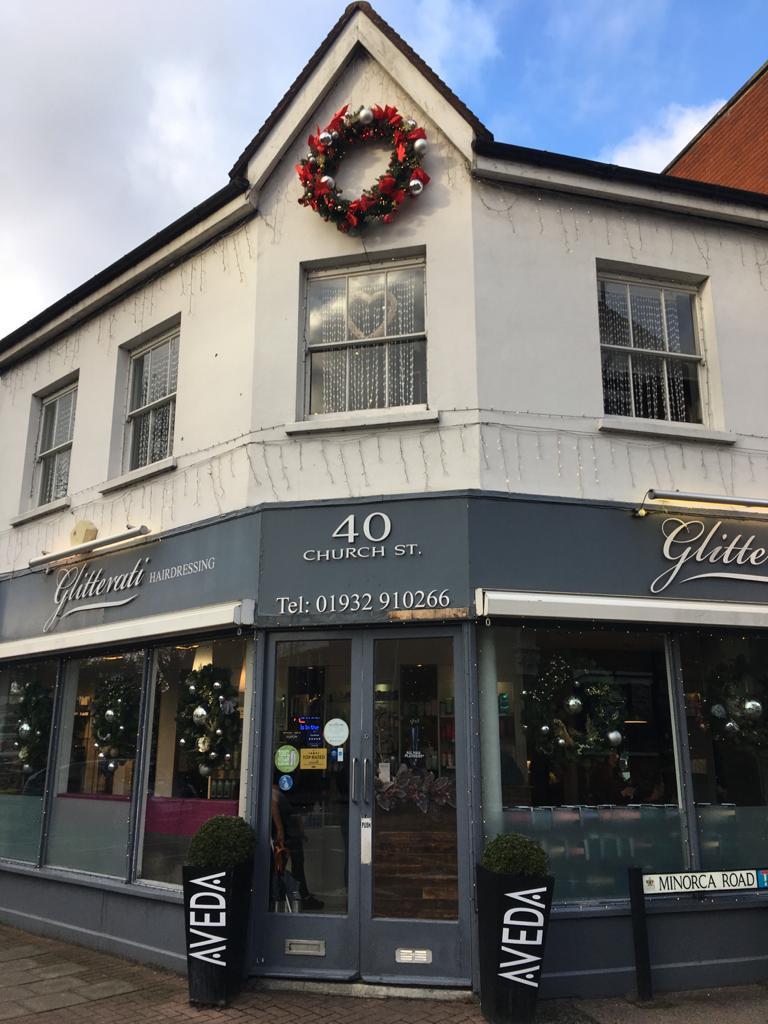 Glitterati Hair Salon Weybridge - Christmas Window Competition Runner Up