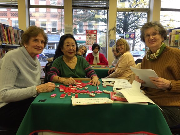 MahJong games for adults at Weybridge Library on Fridays