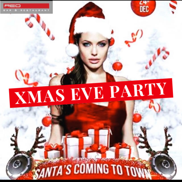 Red Bar Christmas Eve Party 2019