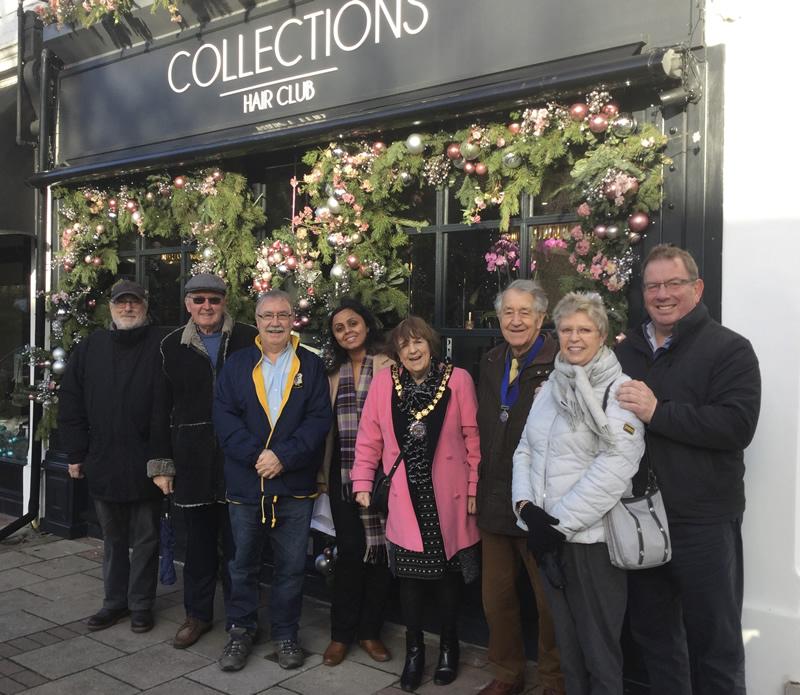 Weybridge In Bloom Judges with Elmbridge Mayor and Sponsors Weybridge Town Business Group