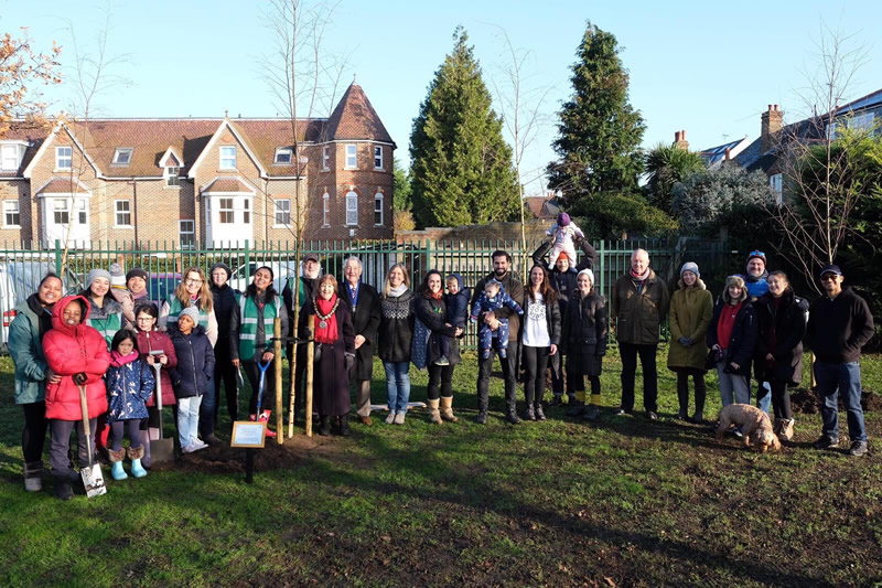 Weybridge Tree Planting Event Including ECO Community Groups