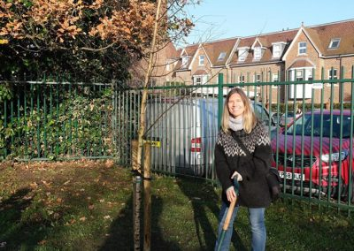 Molesey Clothing Exchange - Weybridge Tree Planting with Elmbridge BC