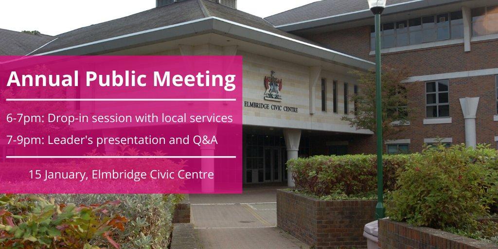 Elmbridge BC Annual Public Meeting at Esher Civic Centre