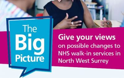 Give your views on possible changes to NHS walk-in services in NW Surrey