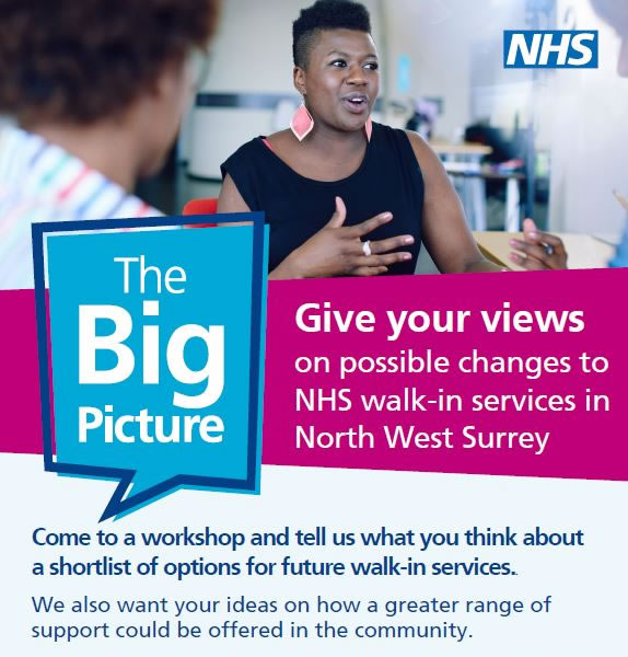 NHS Big Picture Events in Whiteley Village Hersham, Woking & Staines