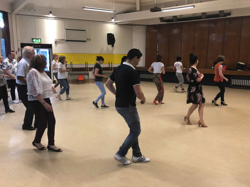 Weybridge Salsa Course in the town centre at St James Church Hall