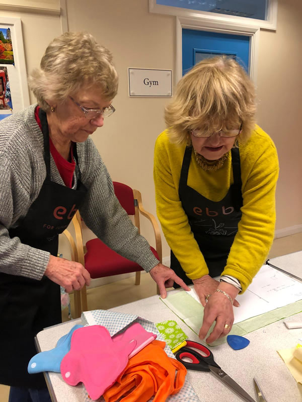 Volunteers Sewing For A Good Cause - Elmbridge Project At Whiteley Village