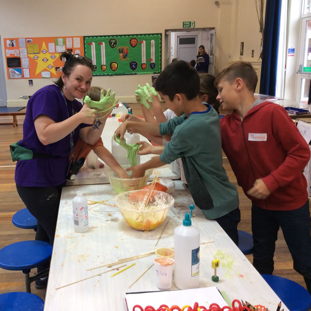 Weybridge Holiday Club at St James Primary School - Messy Fun