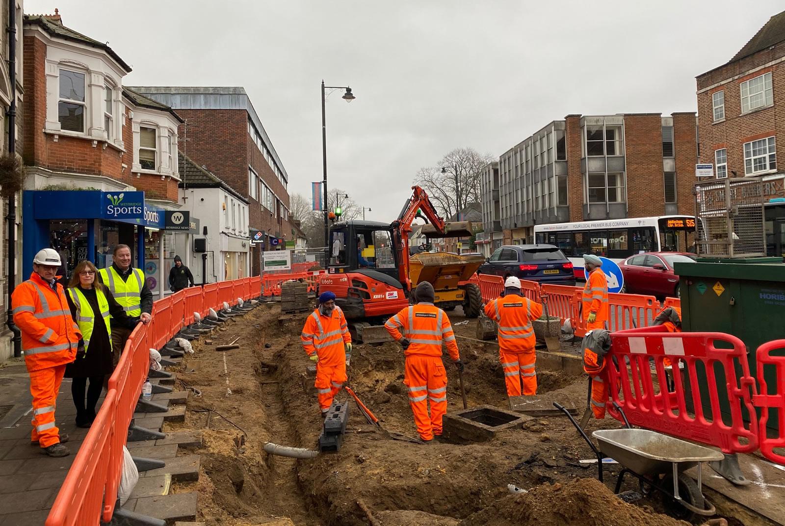 Weybridge Streetscape Project Is Underway