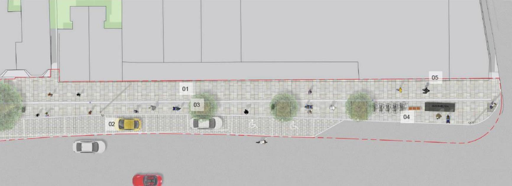 Weybridge Streetscape Scheme Plans - Waitrose end