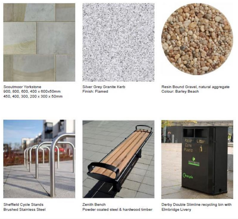 Weybridge Streetscape Scheme Materials