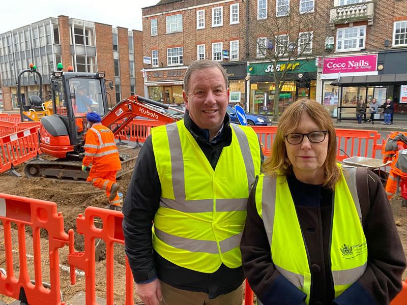 Weybridge Streetscape Scheme - Paul Povey of Weybridge Town Business Group and Cllr Elmer fom Elmbridge Borough Council