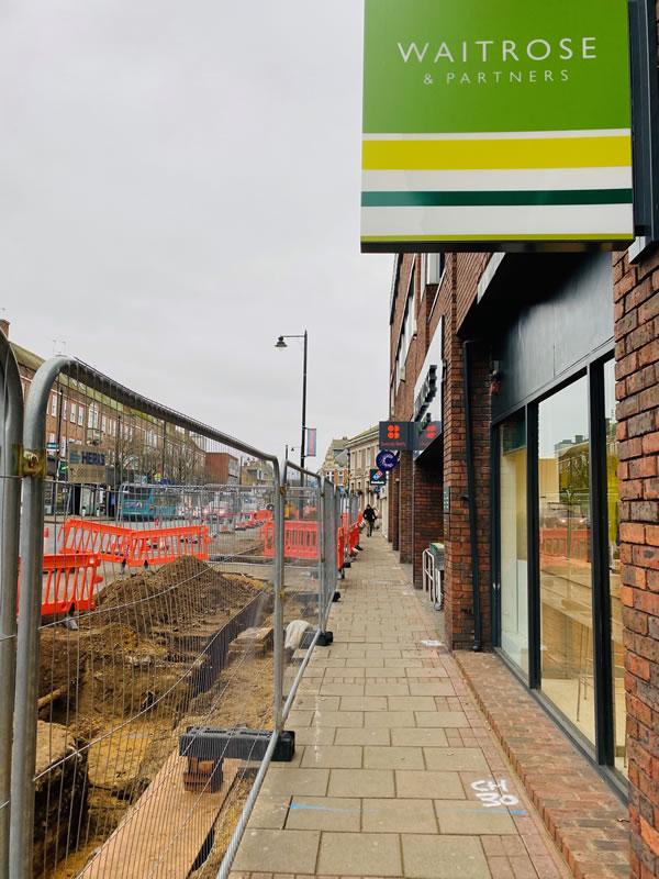 Weybridge Streetscape Scheme - Walkway Access for works in progress