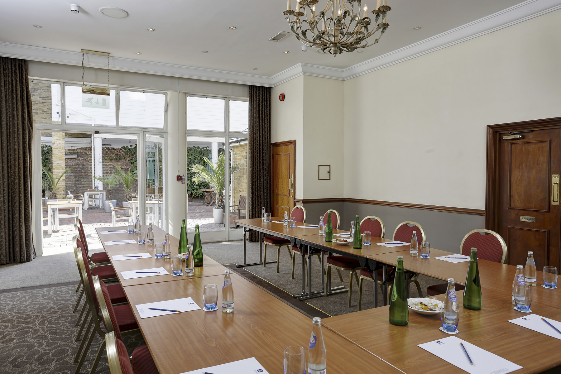 Conference room for business meetings and conferences at The Ship Hotel Weybridge Elmbridge Surrey