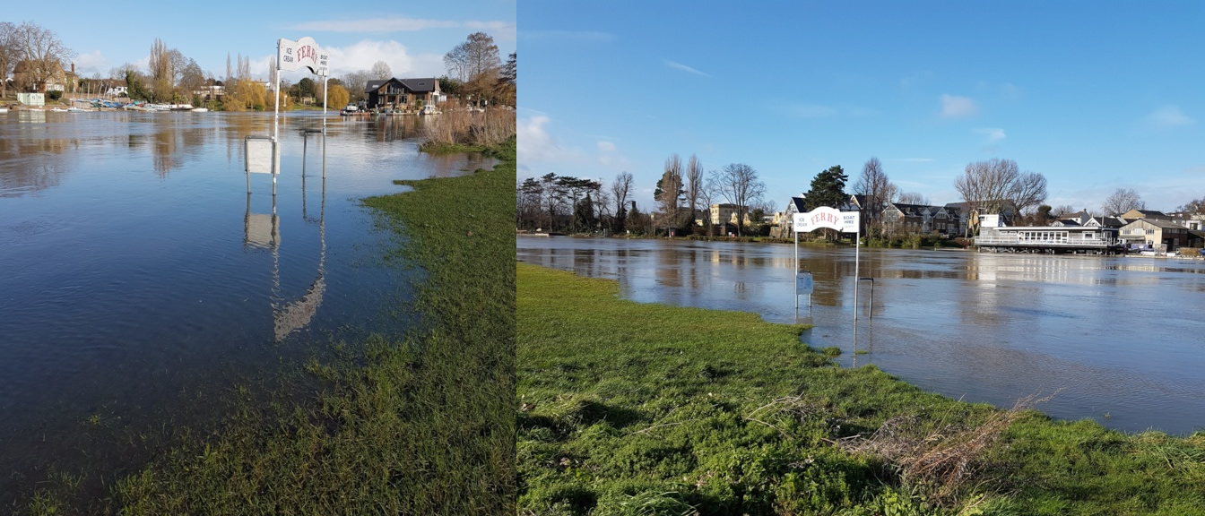 River Thames Flooding - West Molesey Elmbridge Surrey