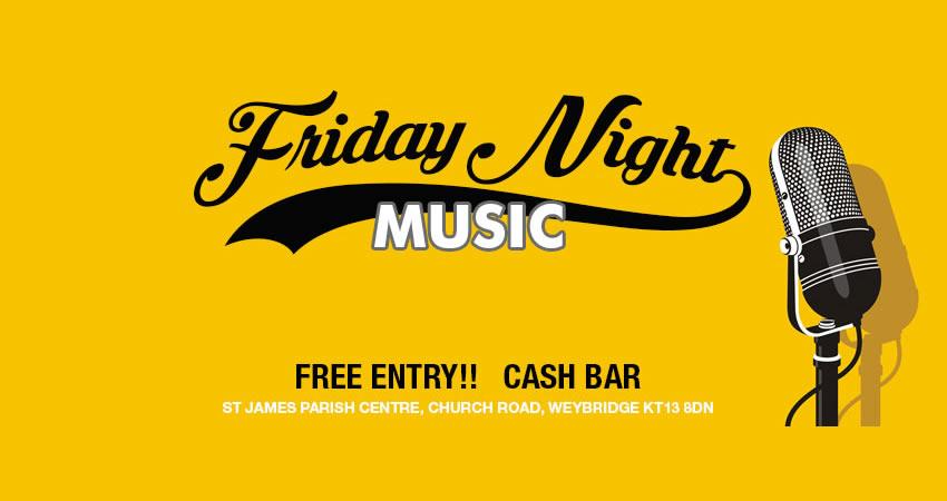 Friday Night Music At St James' Weybridge - Free Entry Cash Bar