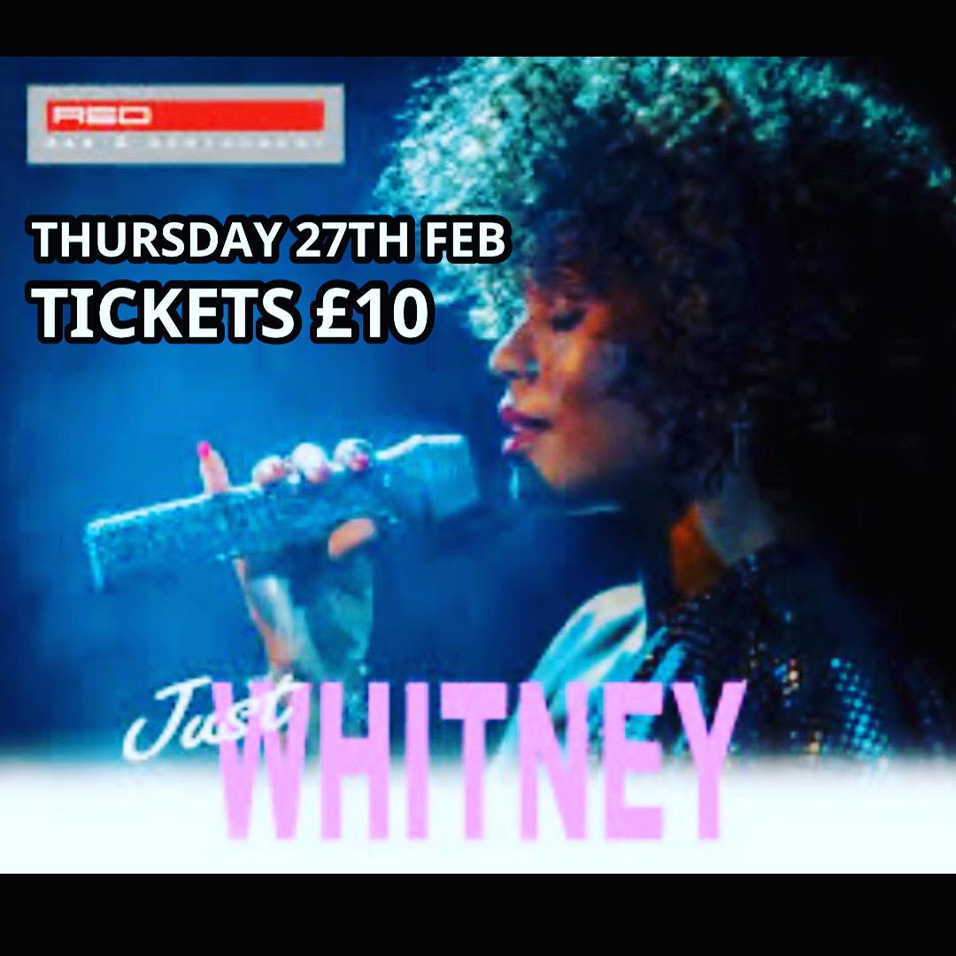 Red Bar Weybridge Whitney Houston Tribute Just Whitney February 2020