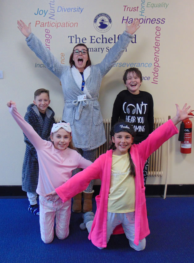 Shepperton Walton Staines Ashford and Addlestone School Children and staff in charity fundraiser