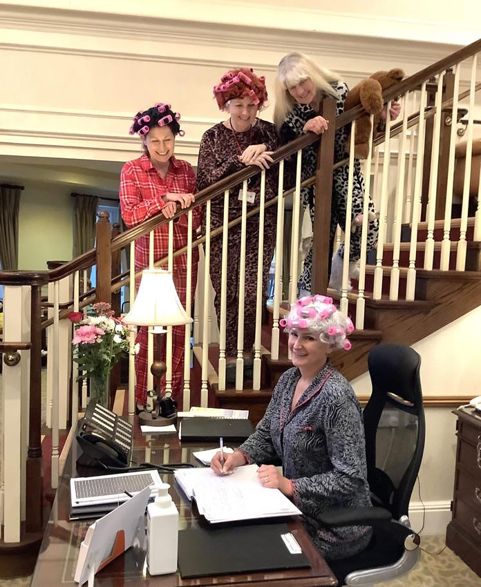 Sunrise Senior Living Homes For Retired - Staff in Pyjamas for Charity Fundraiser