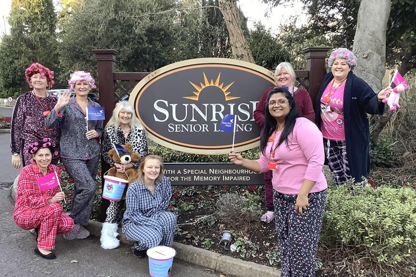 Sunrise Senior Living Weybridge and Surrey - Fundraising for Esher Charity