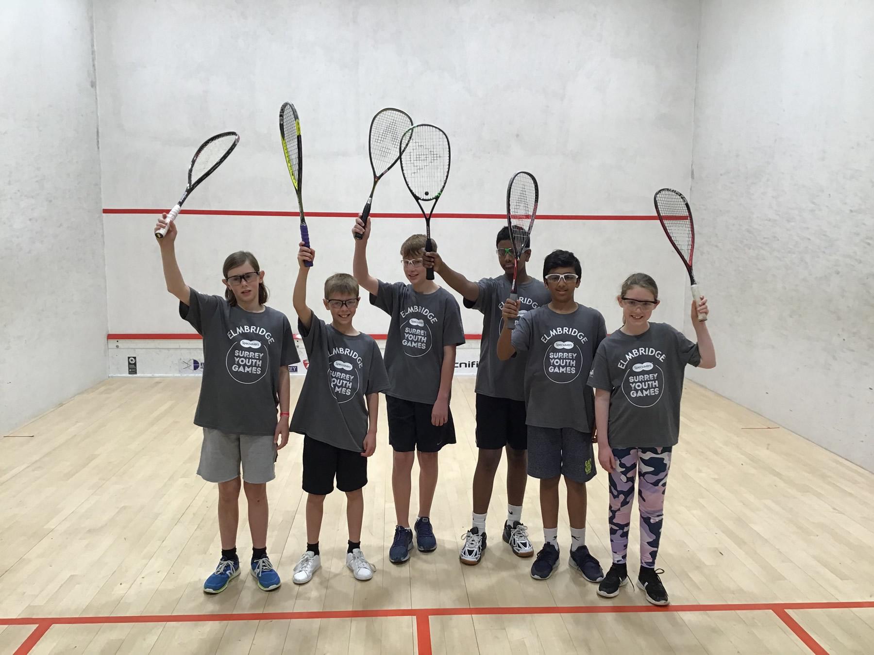Elmbridge Squash Team - Surrey Youth Games 2019