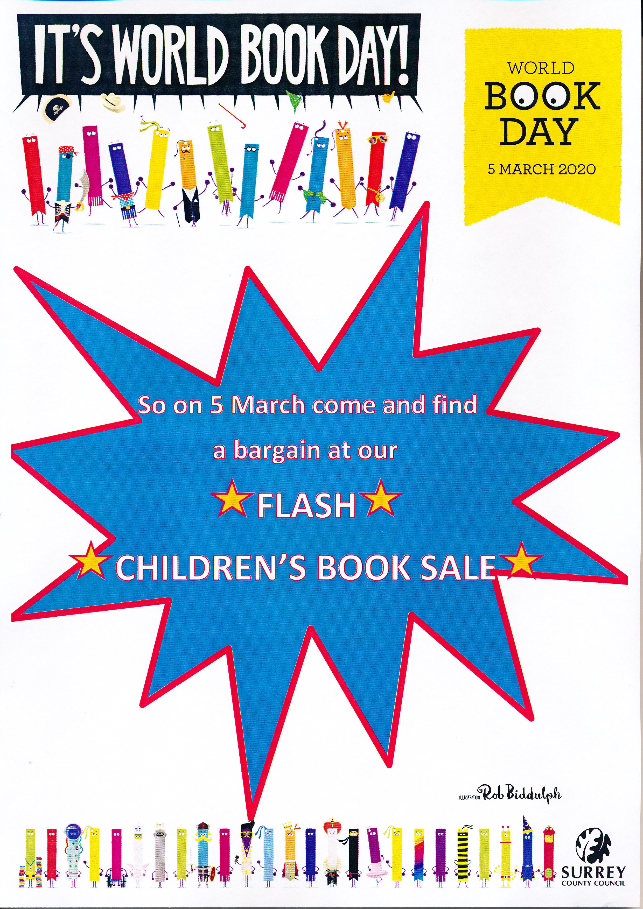 Flash Children's Book Sale - World Book Day at Weybridge Library