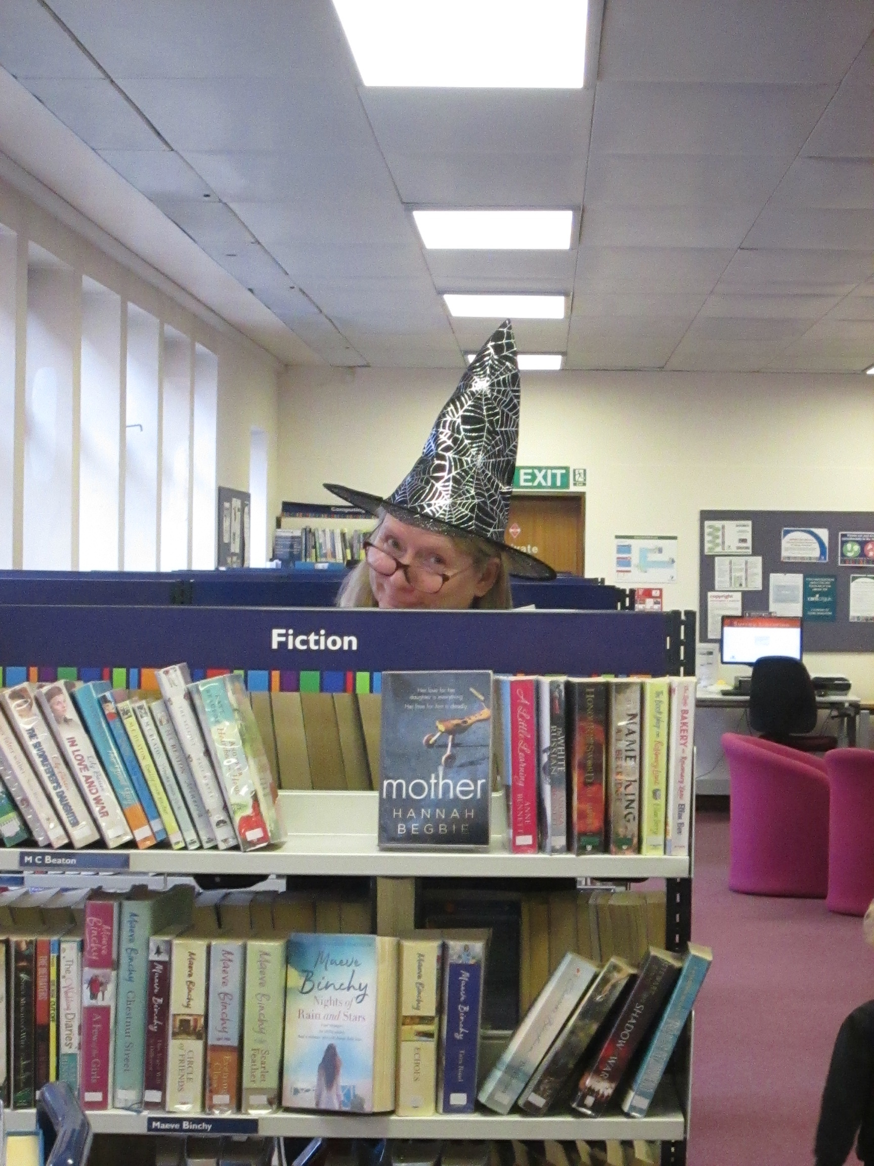 Weybridge Library Staff Dressed up for World Book Day - Witch