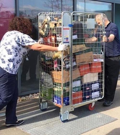 Food being delivered to NHS Hospital