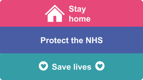 Stay Home Stay Safe Protect NHS - Elmbridge Borough Council - Covid-19 pandemic
