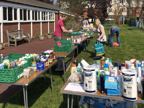 Foodbank to help in Covid-19 lockdown in Elmbridge
