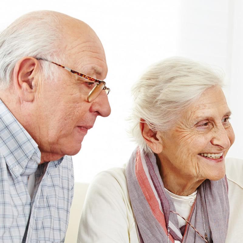 Elderly Man and Lady - Weybridge Senior Citizens