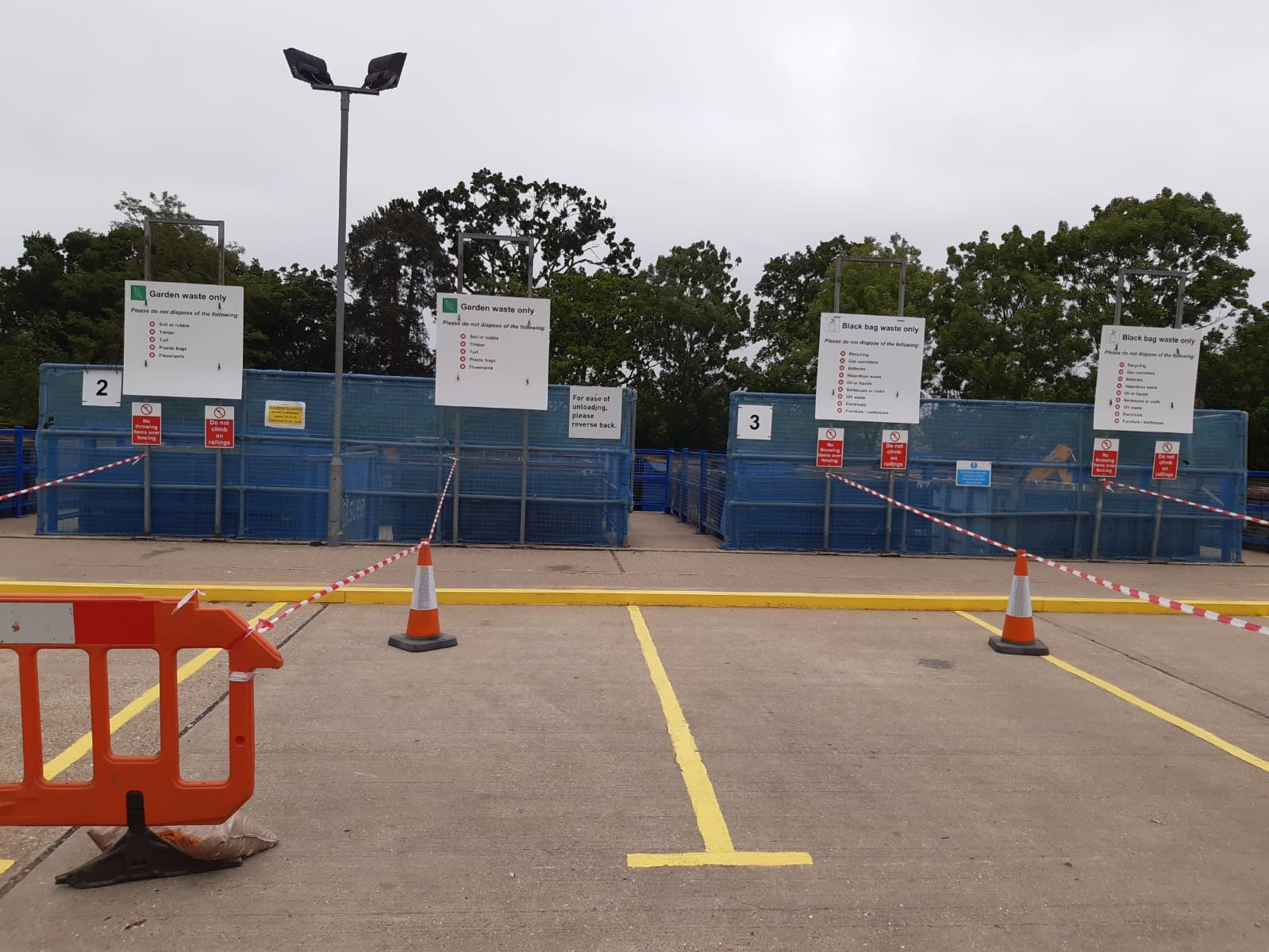 Surrey Recycling Centres - Tipping Point Signage