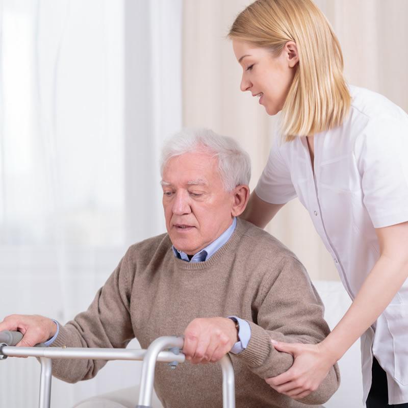 Weybridge Senior Citizen Helped By Carer