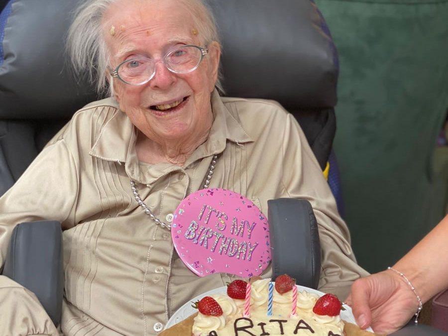 Sutton Lodge Weybridge Resident Rita Celebrates 101st Birthday