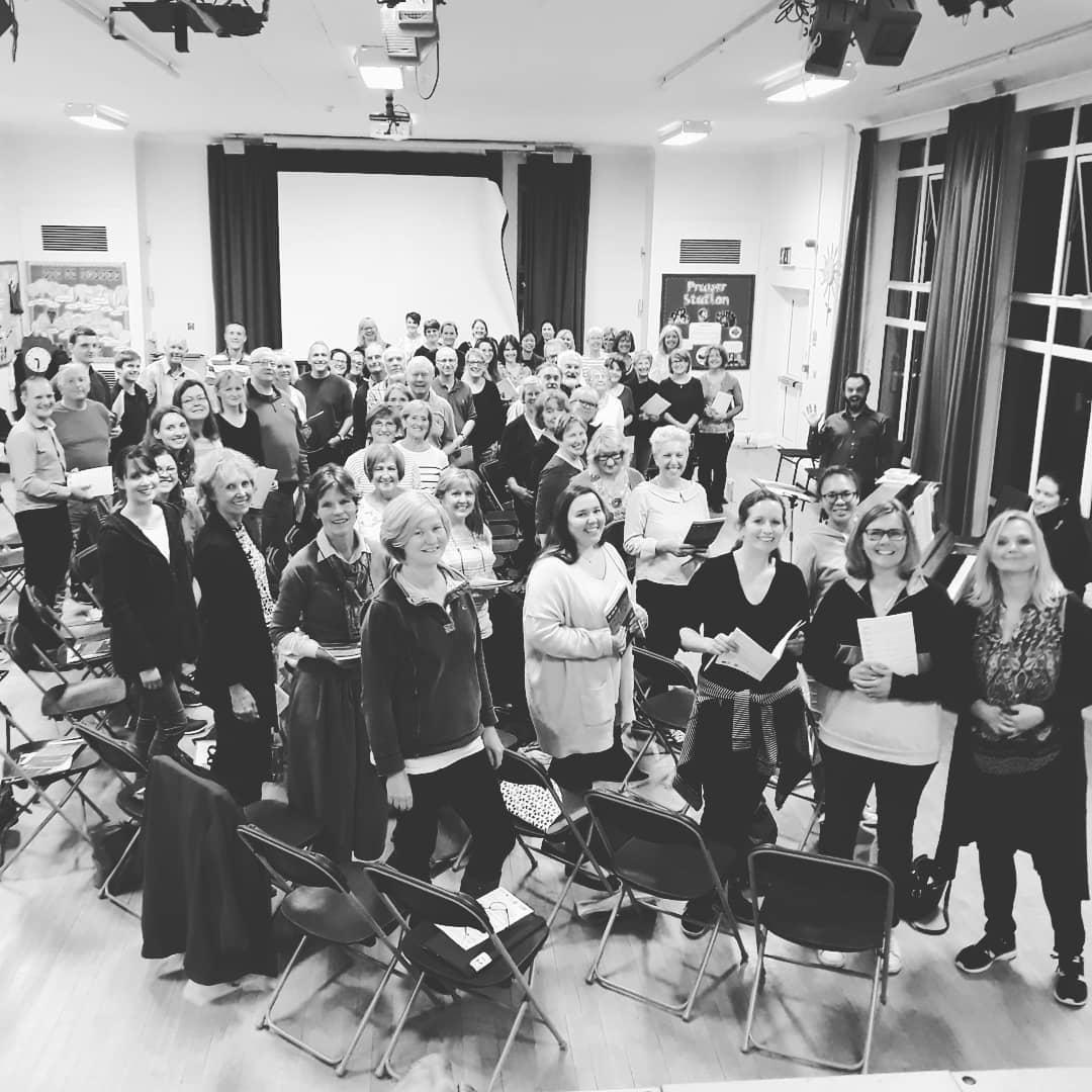Walton Voices Choir - Rehearsals at at Bell Farm Primary School, Hersham Road, Hersham, Walton-on-Thames