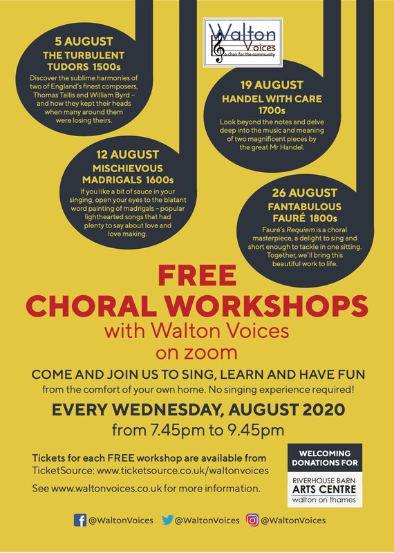 Walton Voices Choir - Rehearsals at at Bell Farm Primary School, Hersham Road, Hersham, Walton-on-Thames