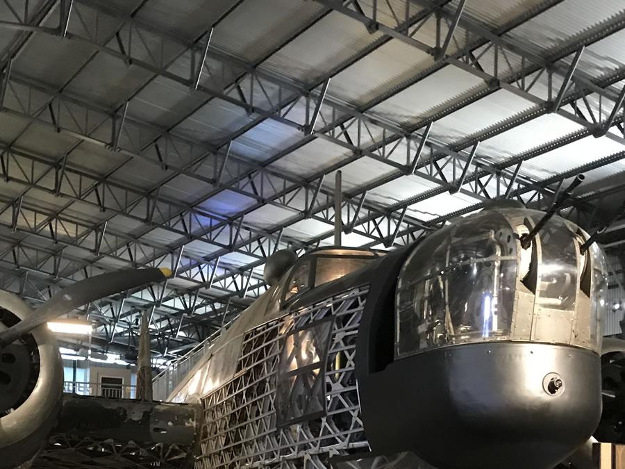 Wellington Bomber in Aircraft Hanger at Brooklands Museum Weybridge Surrey