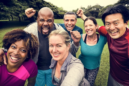 2020 Getting Elmbridge Active Survey - Bame group of people being active