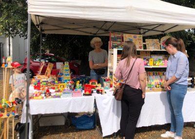 Anja's Wooden Toys - Stall at Weybridge August market