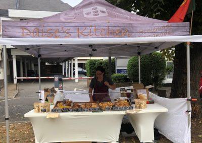 Daise's Kitchen stall at Weybridge Market - Brazilian empanadas & Portuguese cakes