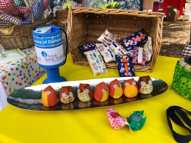 Sew Weybridge stall - Raising funds for YourSanctuary Domestic Abuse Charity
