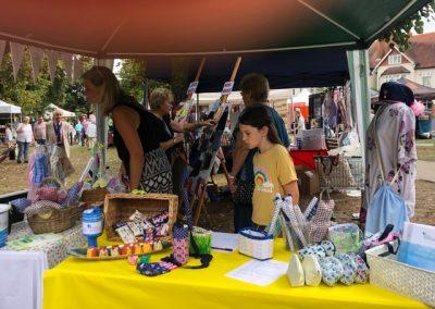 Sew Weybridge stall at August Market