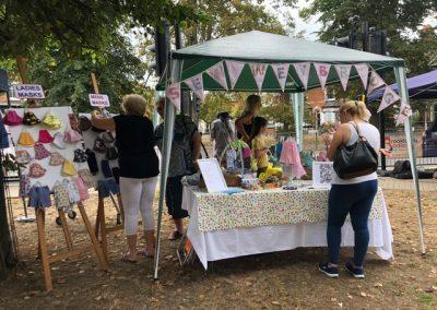Sew Weybridge stall at August Market - Face masks
