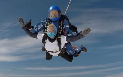 Terri's 80th Birthday Skydive to raise funds for Elmbridge Community Link