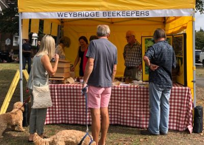 Weybridge Beekeepers stall at August market - Local Honey and lots of information on these amazing creatures