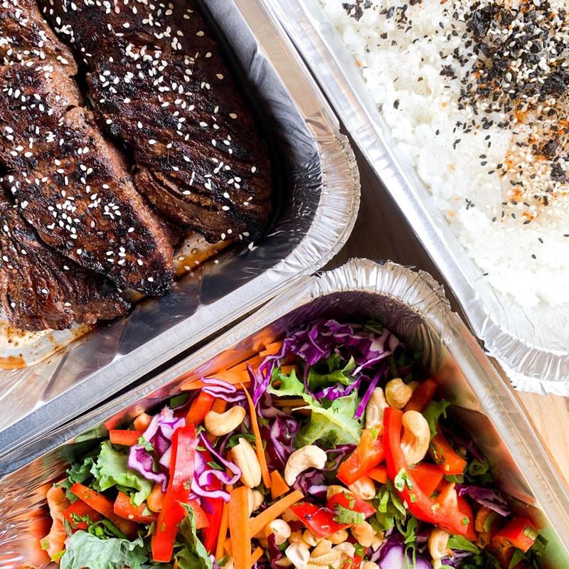 Honey Sesame Beef Square - Meal delivery service to Weybridge Esher Cobham Oxshott