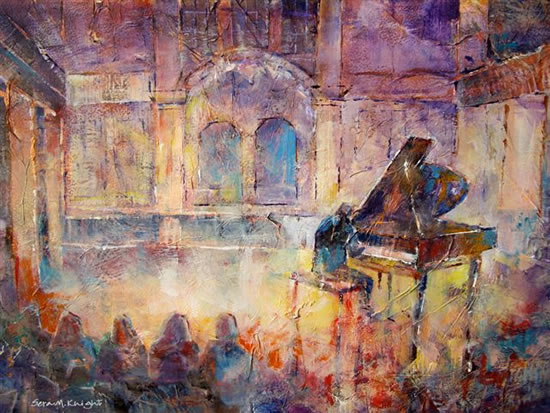 Piano Recital - Art by Woking Surrey Artist Sera Knight