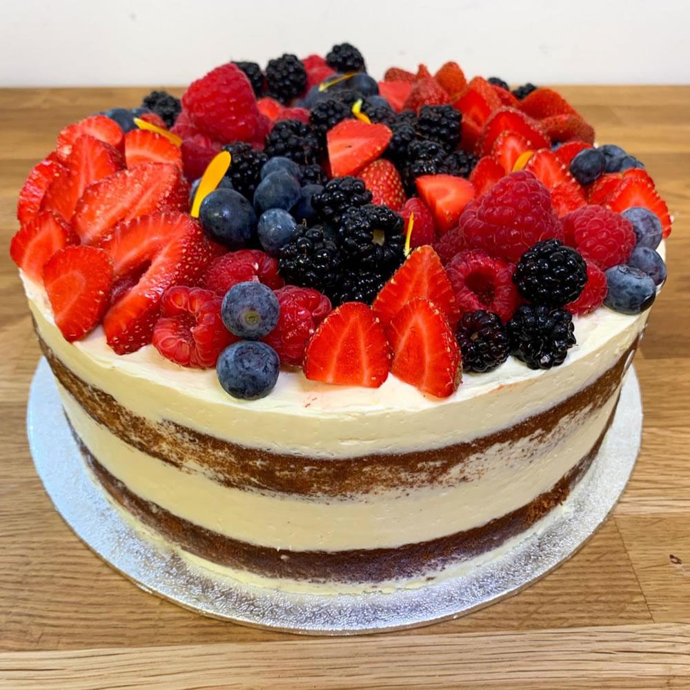 Lemon and Berry Cake - Bespoke Catering - Byfleet Weybridge Cobham